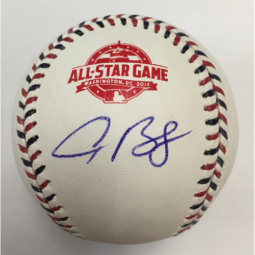 Photo of Alex Bregman Autographed 2018 All Star Game Logo Baseball