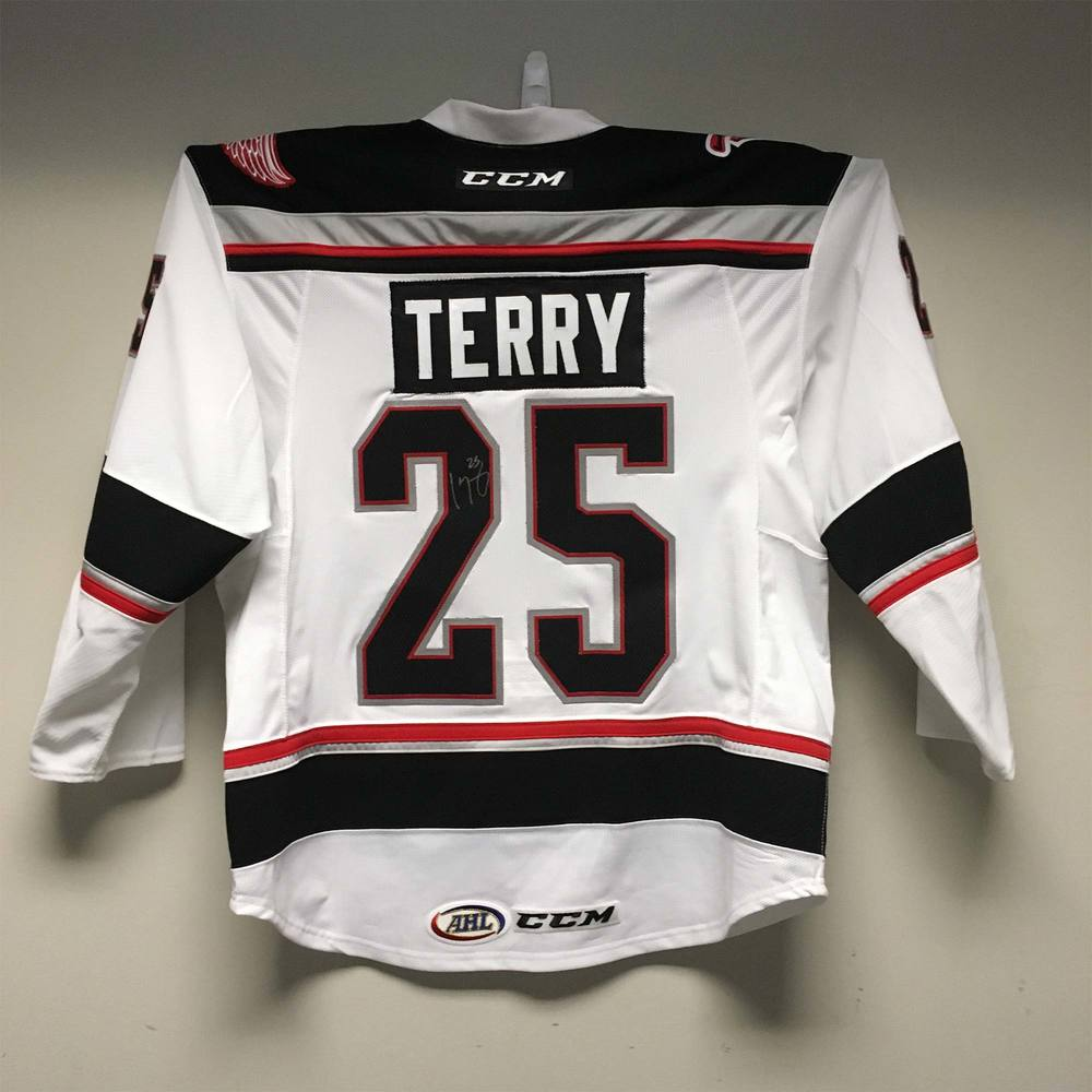 2019 Lexus AHL All-Star Skills Competition Jersey Worn and Signed by #25 Chris Terry