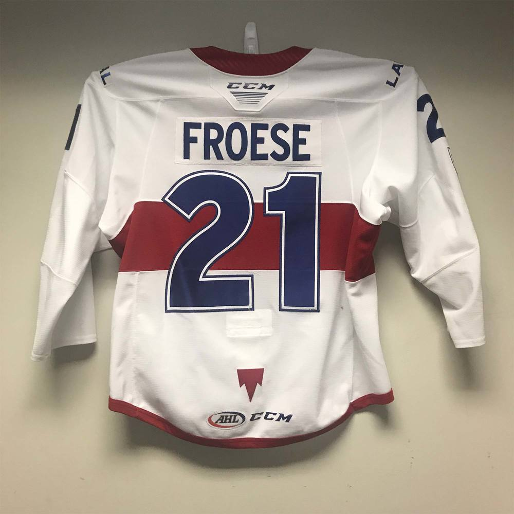 Laval Rocket Captain's Jersey worn by #21 Byron Froese