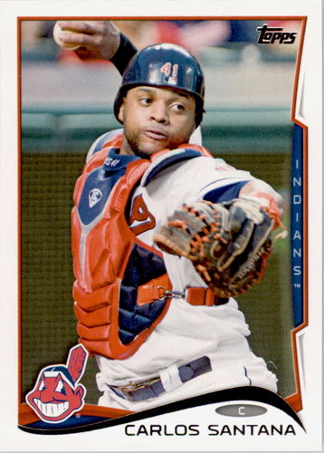 Photo of 2014 Topps #338 Carlos Santana
