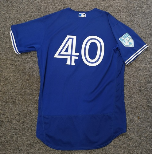 Photo of Authenticated Game Used 2019 Spring Training Jersey - #40 Pete Walker (Mar 17. Mar 26). Size 46
