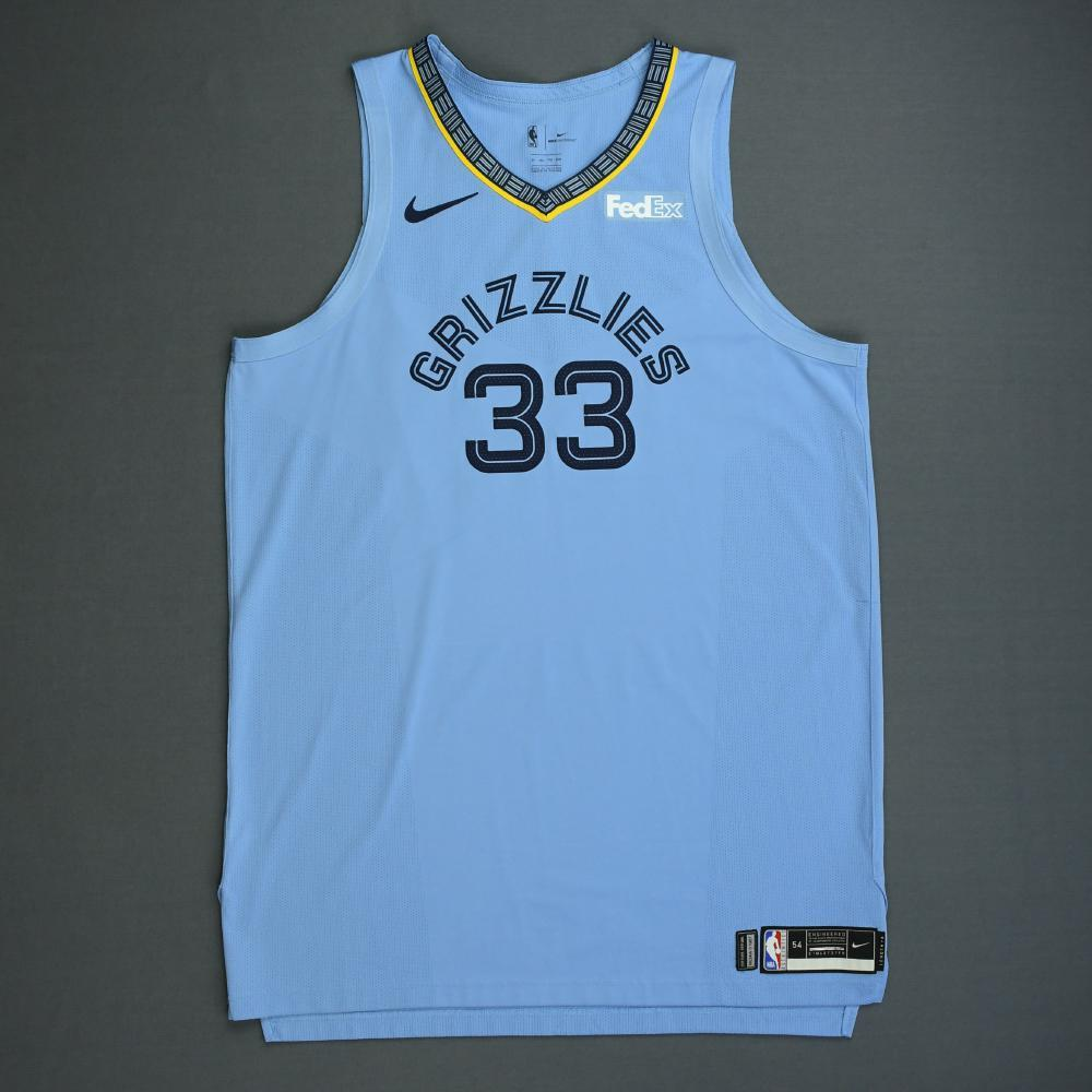 huge selection of 0c154 c2e6b Marc Gasol - Memphis Grizzlies - 2018-19 Season - Game-Worn ...
