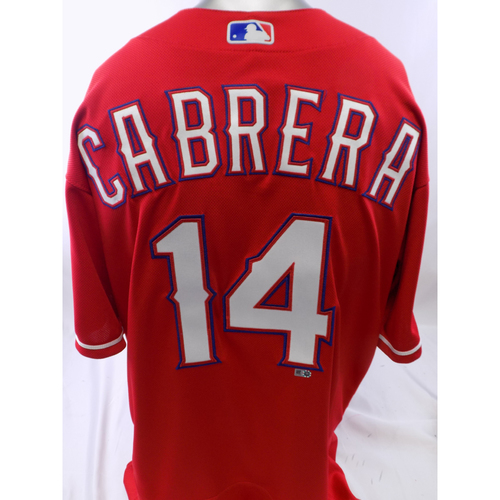 Photo of Team-Issued Red Asdrubal Cabrera Jersey - Size 46