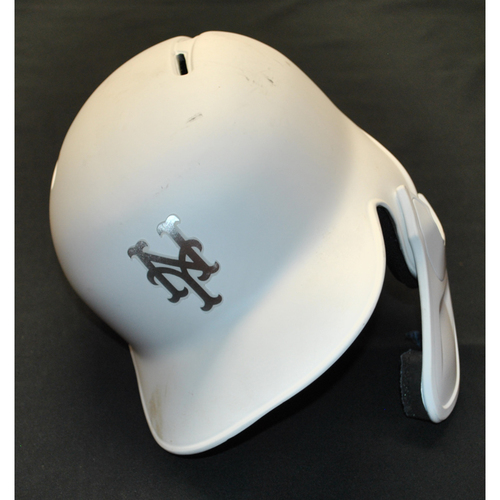 "Photo of Aaron ""A-A-RON"" Altherr New York Mets Game-Used 2019 Players' Weekend Helmet"