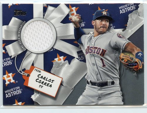 Photo of 2019 Topps Walmart Holiday Relics #WHRCC Carlos Correa