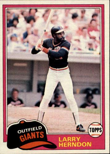 Photo of 1981 Topps #409 Larry Herndon