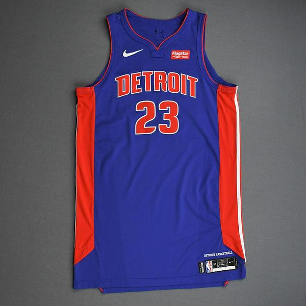 Image of Blake Griffin - Detroit Pistons - 2019 NBA Mexico Games - Game-Worn Icon Edition Jersey