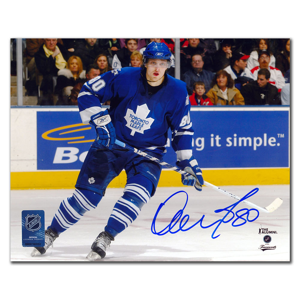 Nik Antropov Toronto Maple Leafs PLAYMAKER Autographed 8x10