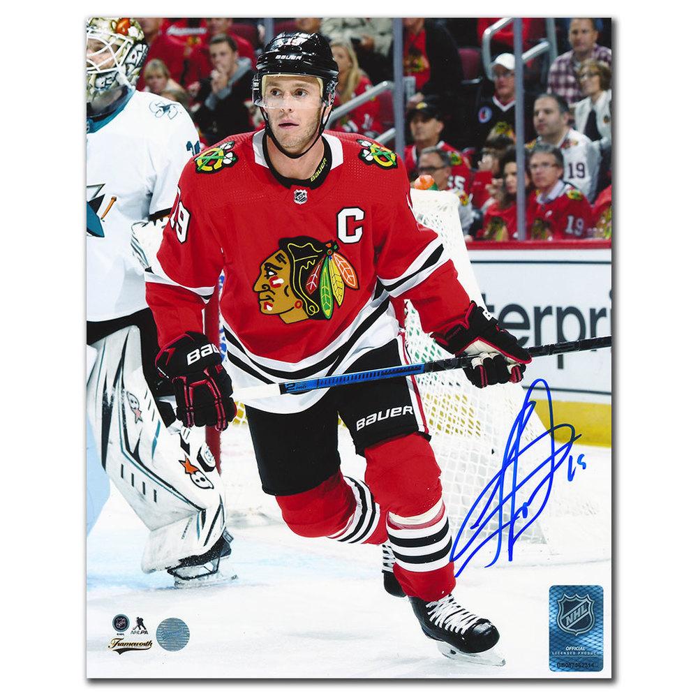 Jonathan Toews Chicago Blackhawks ACTION Autographed 8x10 Photo