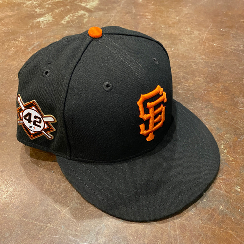 Photo of 2020 Jackie Robinson Day Cap - Team Issued - #21 Joey Bart - Size 7 1/4