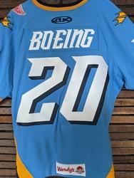 Photo of Brett Boeing Toledo Walleye Game Worn Jersey