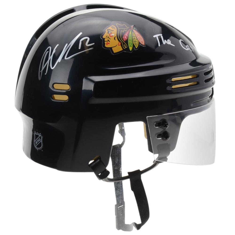 Alex DeBrincat Chicago Blackhawks Autographed Black Mini Helmet with