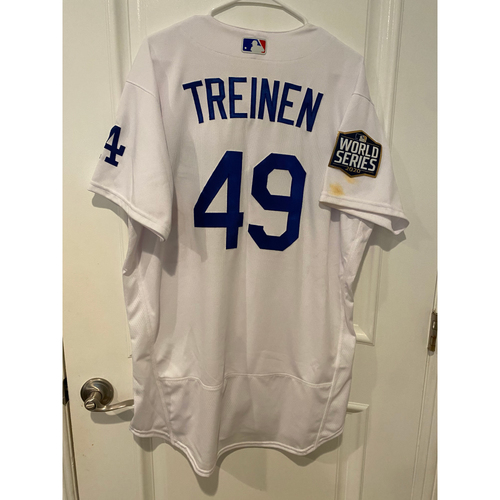Photo of Blake Treinen 2020 Game-Used World Series Jersey - Game 2 & 6