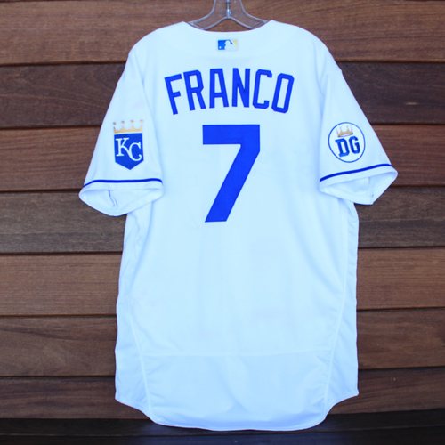 Game-Used 2020 Los Reales Jersey: Maikel Franco #7 (PIT @ KC 9/12/20) - Size 46