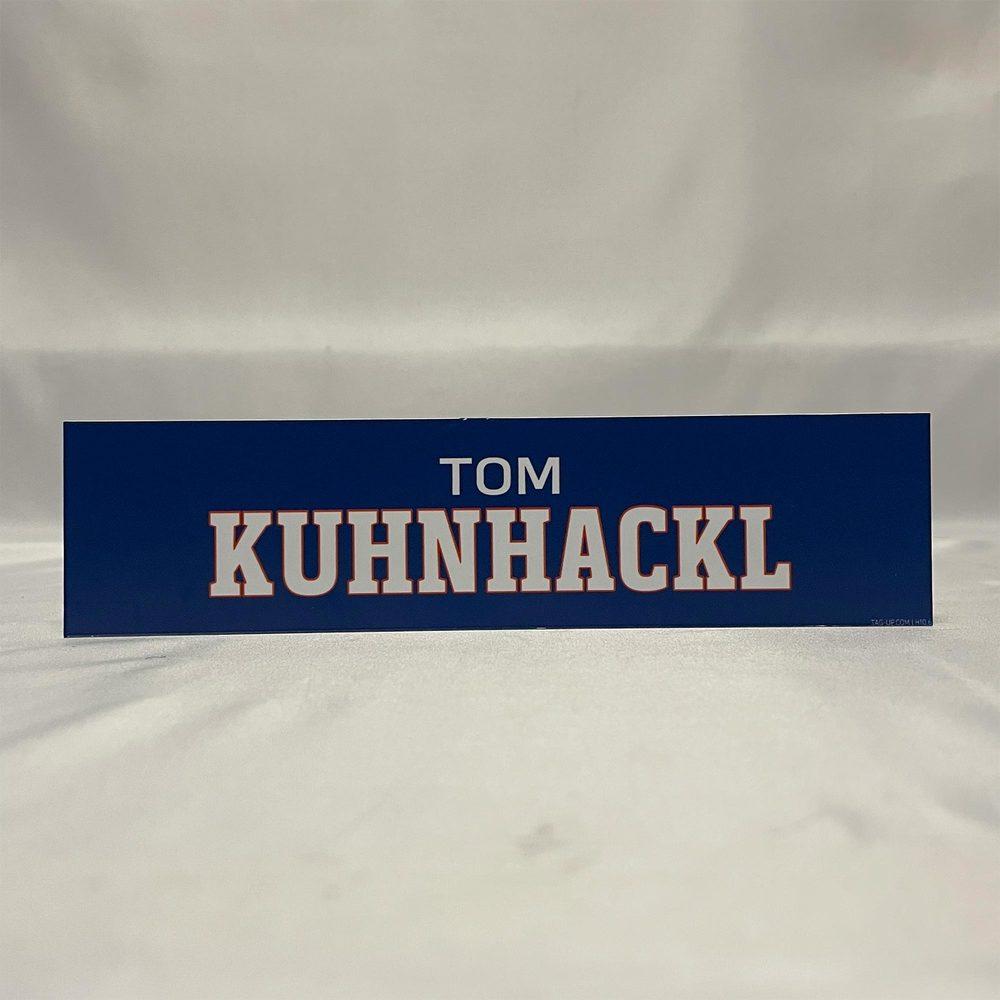 2020-21 Bridgeport Sound Tigers Locker Room Nameplate - #41 Tom Kuhnhackl