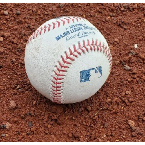 Photo of 2021 Phillies Game-Used Baseball - Luke Williams First Career Defensive Play (assist)