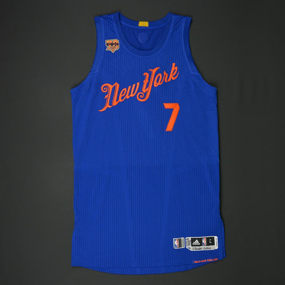 755daeaf655 ... Swingman White Jersey Carmelo Anthony - New York Knicks - NBA Christmas  Day 16 - Game-Worn Mens New York Knicks Derrick Rose adidas Royal 2016 ...
