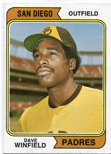 Photo of 1974 Topps #456 Dave Winfield Rookie Card -- Hall of Fame Class of 2001