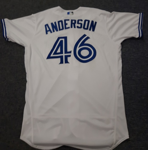 Authenticated Team Issued Jersey - #46 Brett Anderson (2017 Season). Size 48.