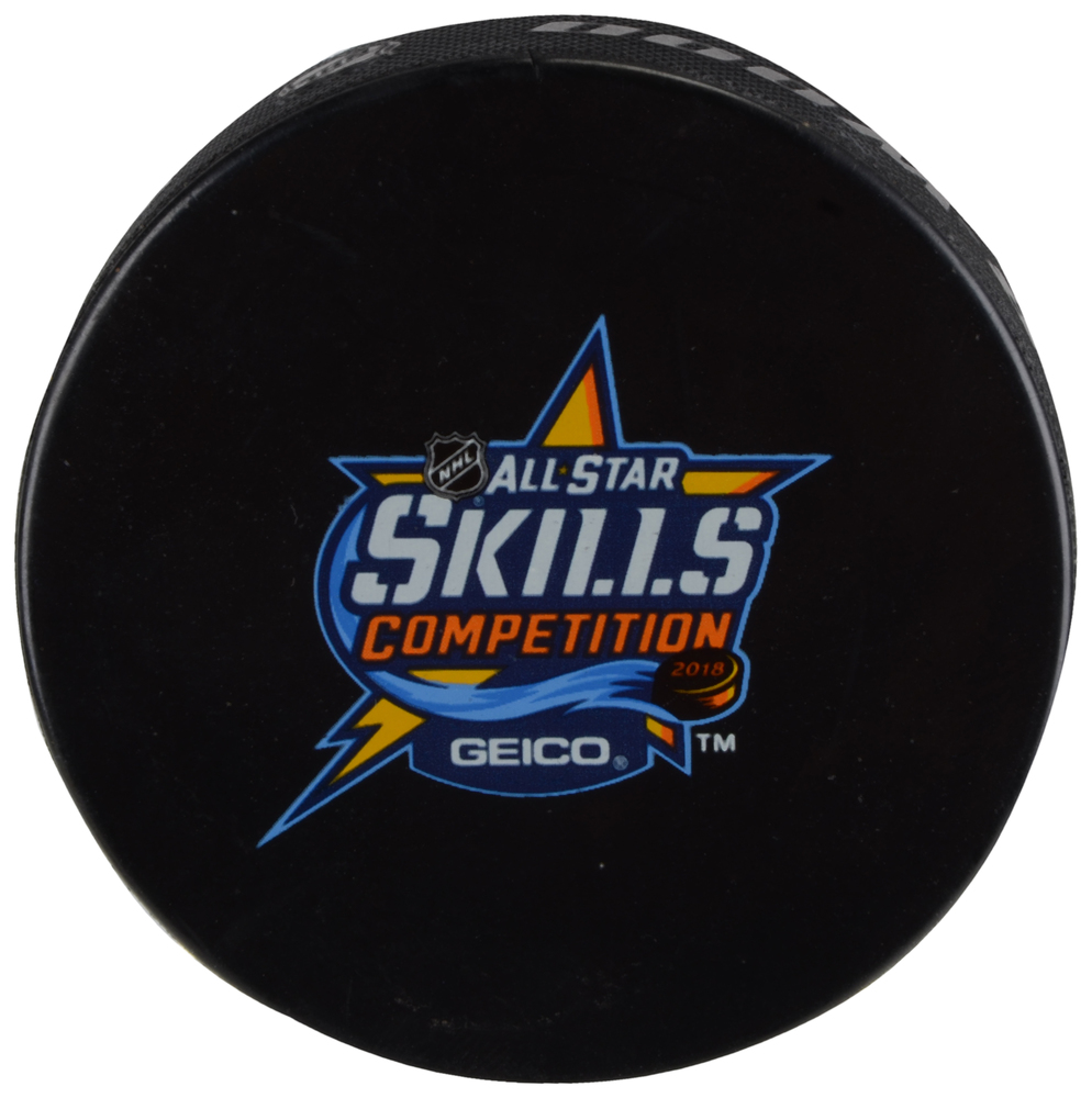 2018 NHL All-Star Game Skills Competition Warm-Up Used Puck