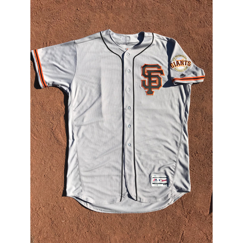 Photo of San Francisco Giants - 2017 Team-Issued Jersey - #13 Will Smith - Road Alt - Jersey Size 50