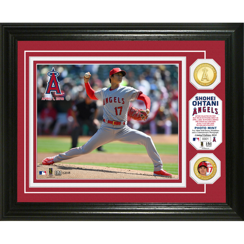 Photo of Shohei Ohtani MLB Pitching Debut Bronze Coin Photo Mint