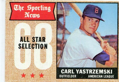 Photo of 1968 Topps #369 Carl Yastrzemski All Star  -- Hall of Famer