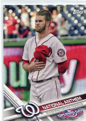 Photo of 2017 Topps Opening Day National Anthem #NA4 Bryce Harper