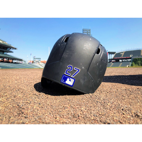 Colorado Rockies Game-Used Batting Helmet - Trevor Story