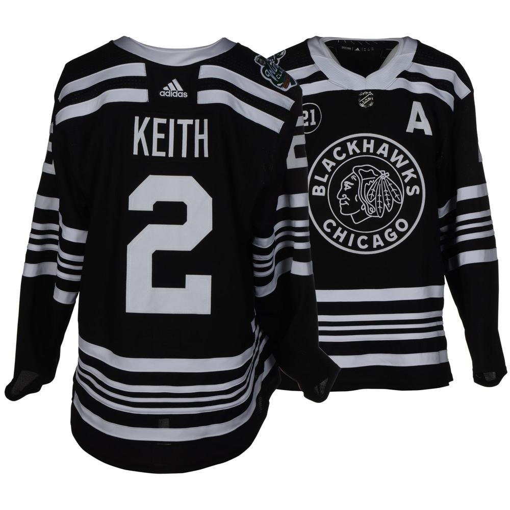 hot sale online 5e17d 8090d Duncan Keith Chicago Blackhawks Game-Worn 2019 NHL Winter ...