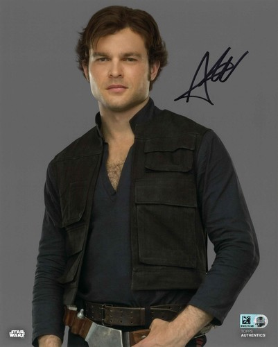 Alden Ehrenreich As Han Solo 8X10 AUTOGRPAHED IN 'BLACK' INK PHOTO