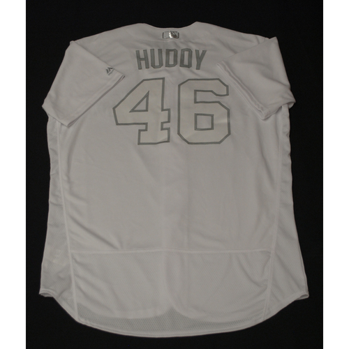 "Photo of Daniel ""HUDDY"" Hudson Toronto Blue Jays Team-Issued 2019 Players' Weekend Jersey"