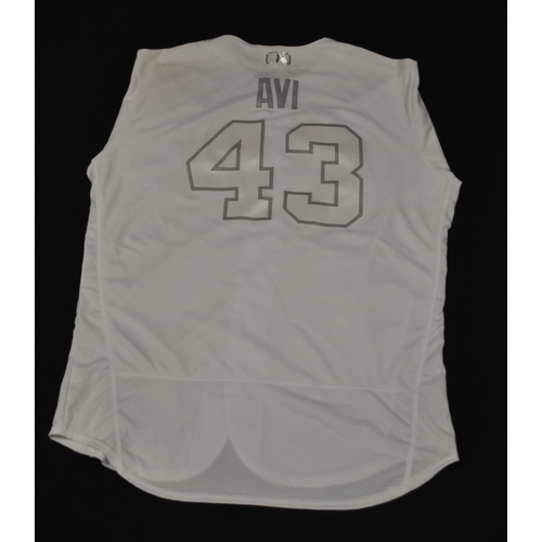 "Photo of Luis ""AVI"" Avilan New York Mets Game-Used 2019 Players' Weekend Jersey"
