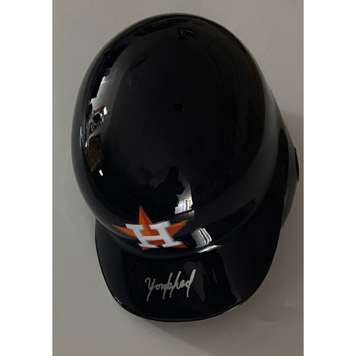 Photo of Yordan Alvarez Autographed Astros Batting Helmet
