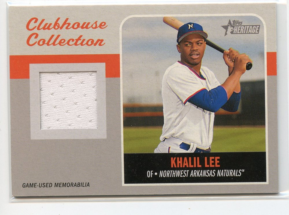 2019 Topps Heritage Minors Clubhouse Collection Relics #CCRKLE Khalil Lee