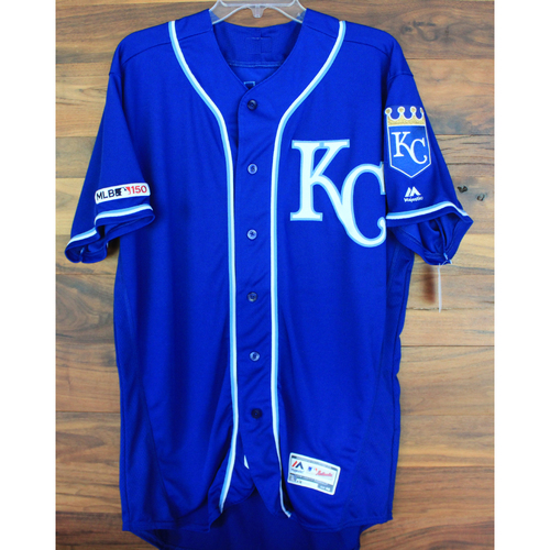 Photo of Game-Used Jersey: Brett Phillips (Size 46 - KC @ MIN - 9/22/19)