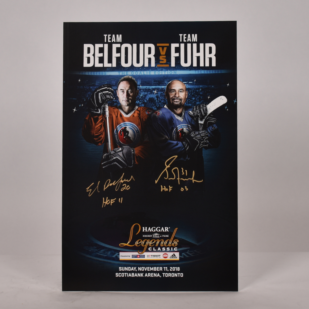 Ed Belfour and Grant Fuhr 2018 Legends Classic Signed Poster