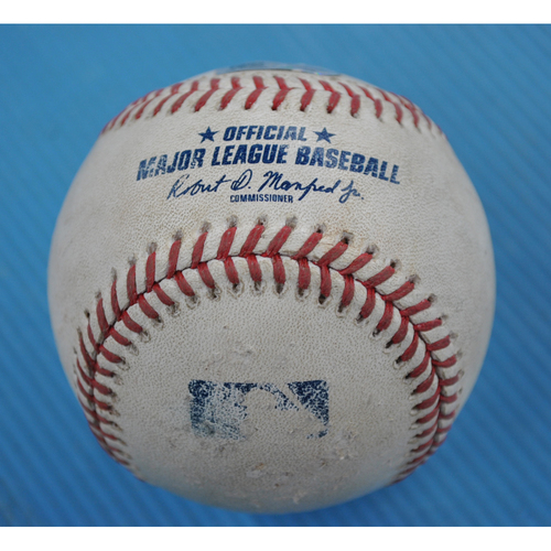 Photo of Game-Used Baseball - 2020 NLCS - Los Angeles Dodgers vs. Atlanta Braves - Game 3 - Pitcher: Grant Dayton, Batter: Max Muncy (Double to LF) - Top 3