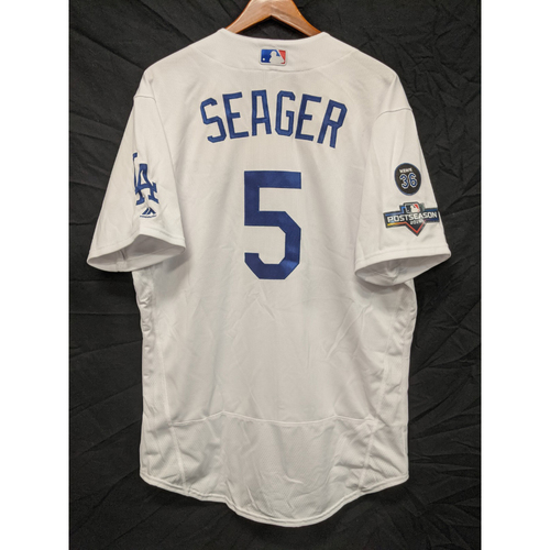 Photo of Corey Seager Team-Issued 2019 Home Postseason Jersey