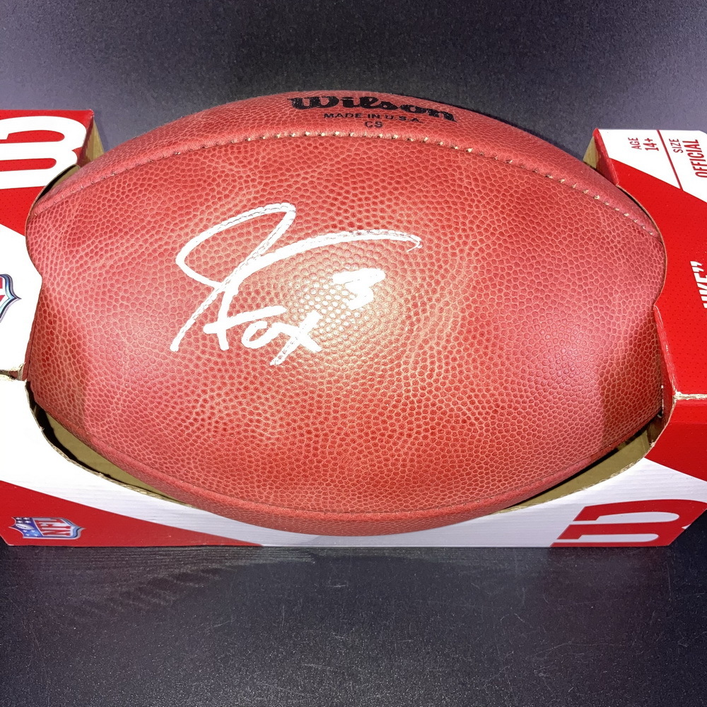 NFL - Lions Jack Fox Signed Authentic Football