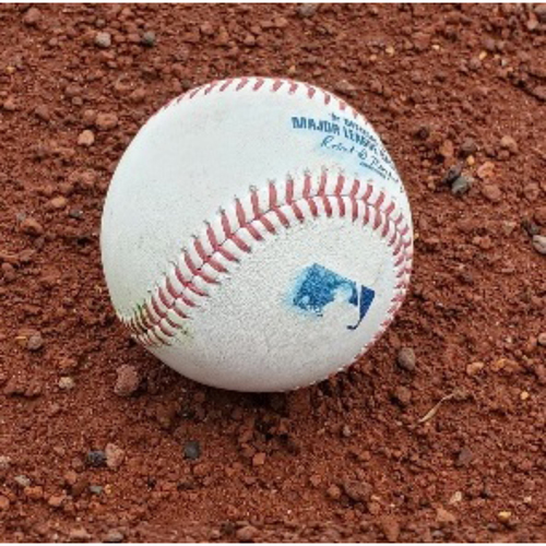 Photo of 2021 Phillies Game-Used Baseball - Ronald Torreyes Web Gem Double Play