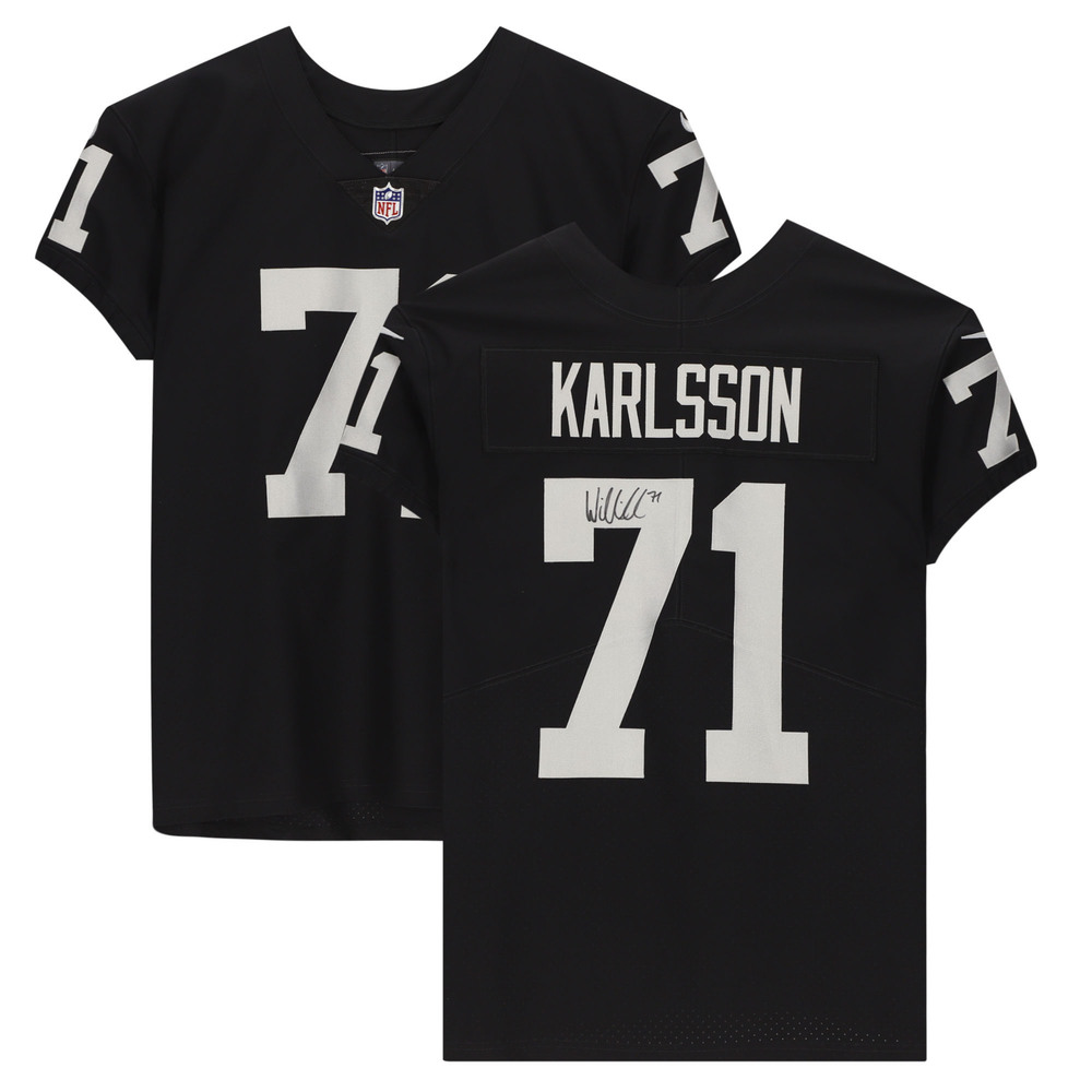 William Karlsson Vegas Golden Knights Autographed Raiders Nike Black Elite Jersey - NHL Auctions Exclusive