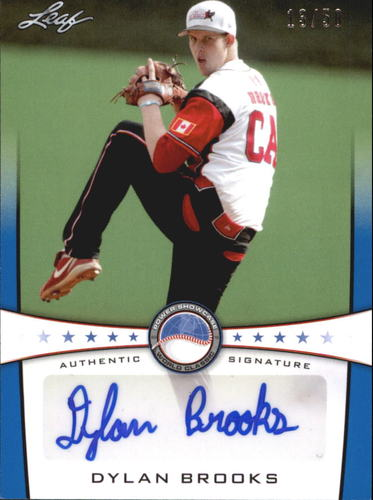 Photo of 2013 Leaf Power Showcase Autographs Blue #DB1 Dylan Brooks