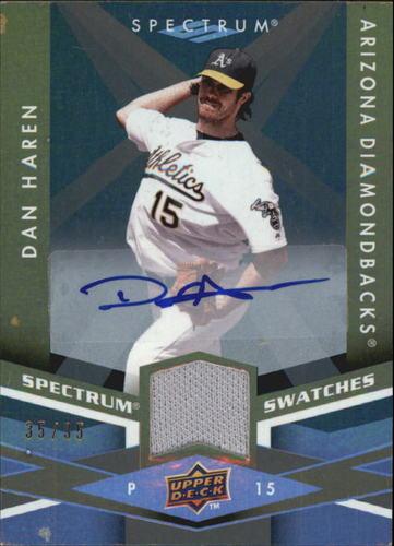 Photo of 2009 Upper Deck Spectrum Spectrum Swatches Autographs #SSDH Dan Haren/35