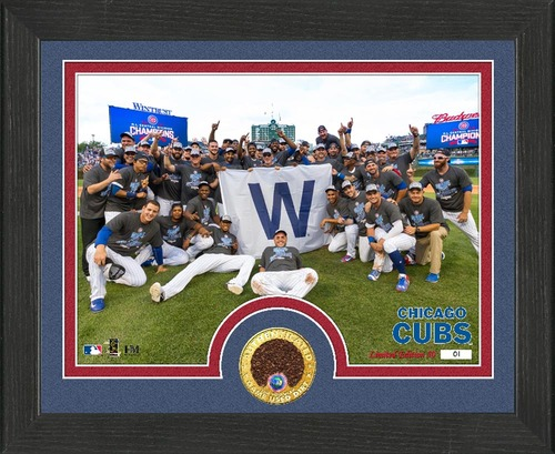 Photo of 2016 Cubs N.L. Central Division Champions Dirt Plaque