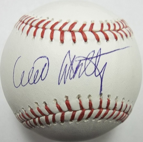 Photo of Willie Montanez Autographed Baseball