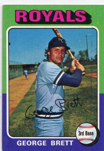 Photo of 1975 Topps #228 George Brett Rookie Card -- Hall of Fame Class of 1999