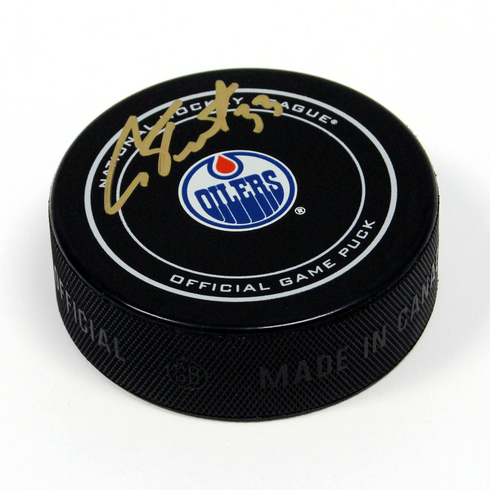 Cam Talbot Edmonton Oilers Autographed Offical Game Puck