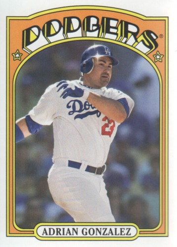 Photo of 2013 Topps 1972 Topps Minis #TM10 Adrian Gonzalez -- Dodgers post-season