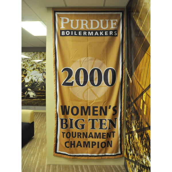 Photo of Mackey Arena Banner: Women's Basketball 2000 B1G Tourney Champs